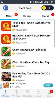 Bigcoin-App kiếm thẻ cào dễ dàng trong 1 ngày