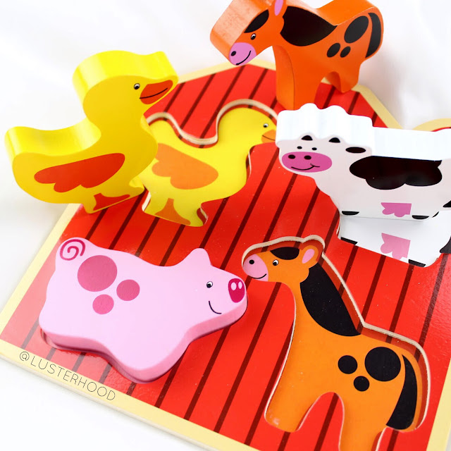 Cubbie Lee Toys Barnyard Farm Animals Puzzle  |  Lusterhood