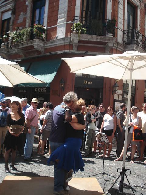 Tango ao ar livre. San Telmo - Buenos Aires