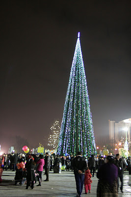 Tashkent New Year tree 2011 Independence Square