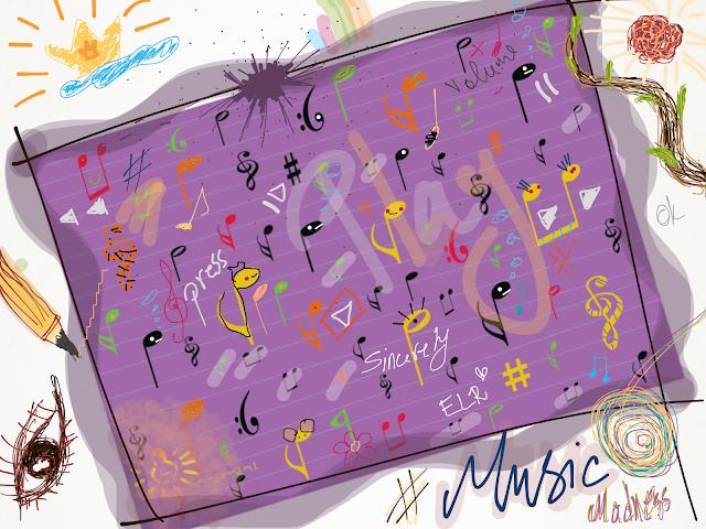 music art, music symbols, music notes, music madness, The Book Portal