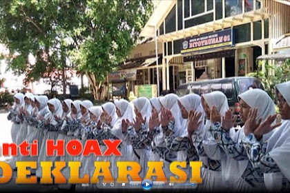 Video Deklarasi Pelajar Indonesia Anti Hoax
