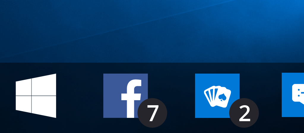 Contatore notifiche su taskbar in Windows 10 HTNovo