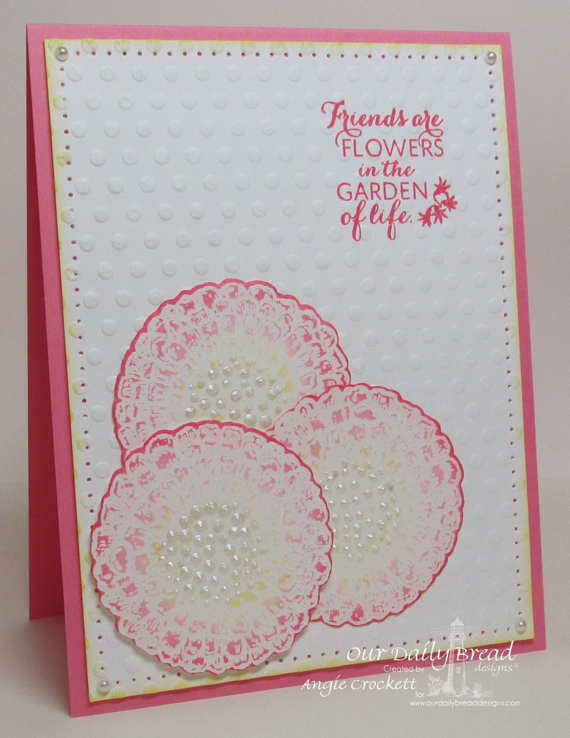 ODBD Zinnia, ODBD Custom Zinnia and Leaves Die Set, Card Designer Angie Crockett