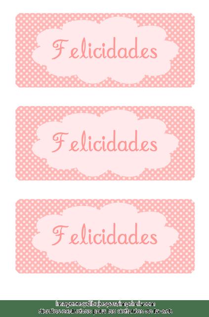 Etiquetas rosas para niñas