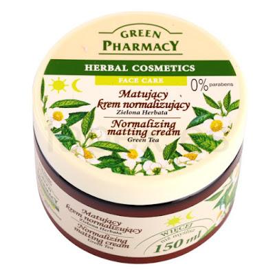 Green pharmacy matujący krem normalizujący zielona herbata