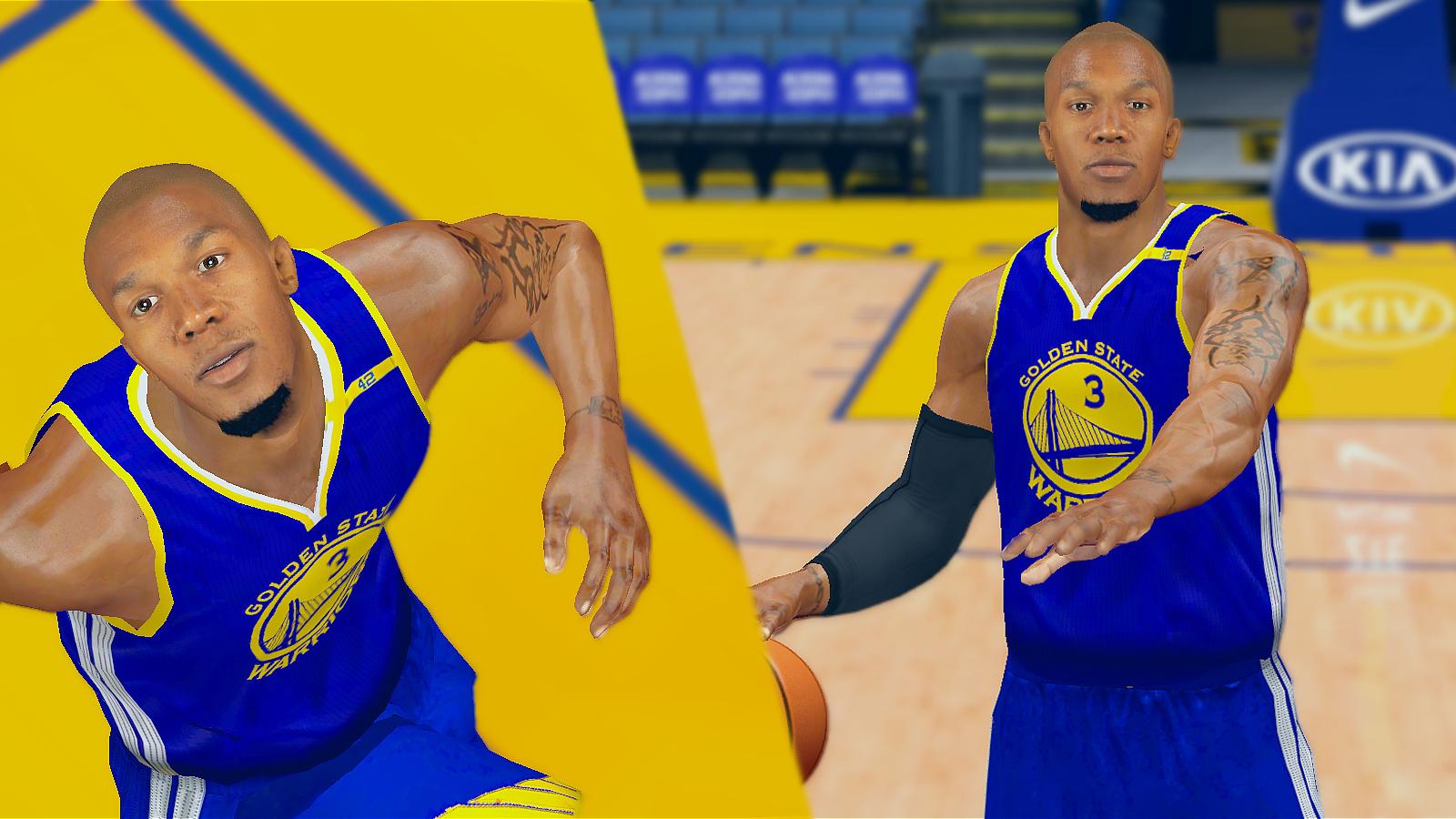 David West Cyberface Realistic W Chin Puff [FOR 2K14] NBA 2K