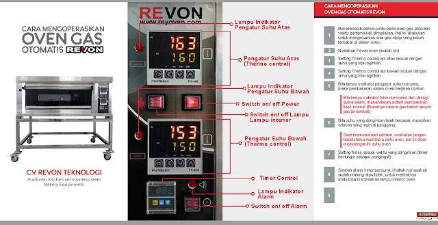 Cara Menggunakan Oven Gas Otomatis Revon