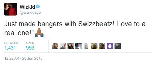 Wizkid records new track with Swizz Beatz