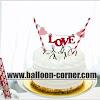 Topper Kue / Cake Topper Motif LOVE