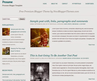 Prosume Responsive Blogger Template