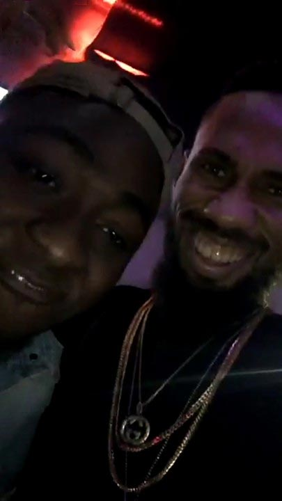 Davido happy as Phyno pays him visit in the United States