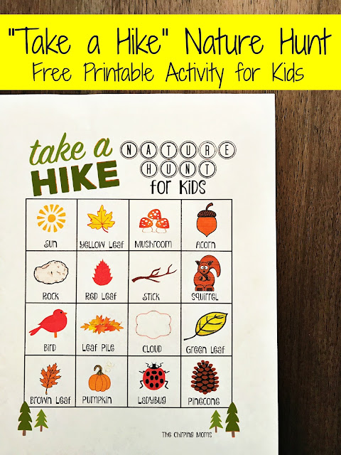"""Take a Hike"" Nature Hunt (Free Printable) 