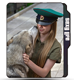 Girl in police uniform, uniform girl, blonde police girl icon, cute girl with dog, dog icon, blonde girl, cute police girl icon.