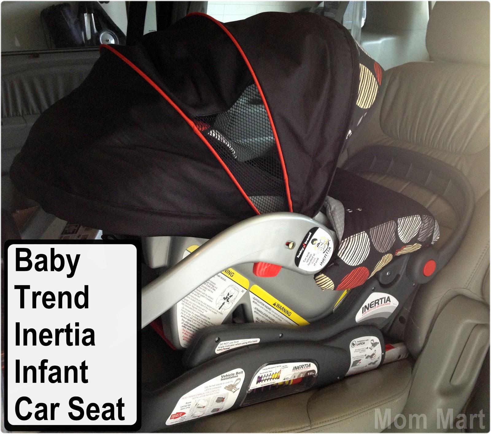 Mom Mart Baby Trend Inertia Infant Car Seat