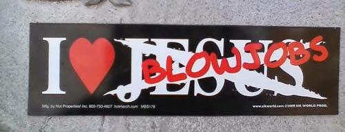 Funny Atheist Bumper Stickers - I love BJ Jesus