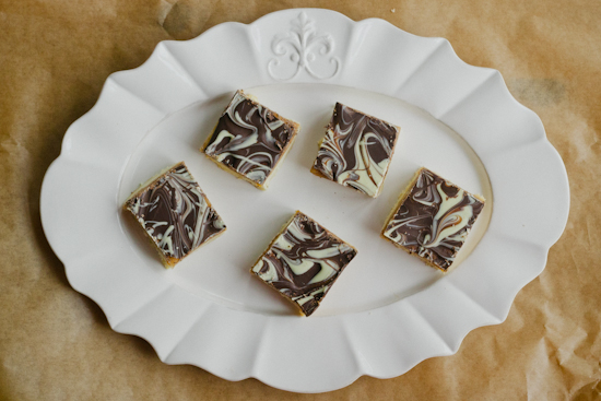 black and white caramel shortbread