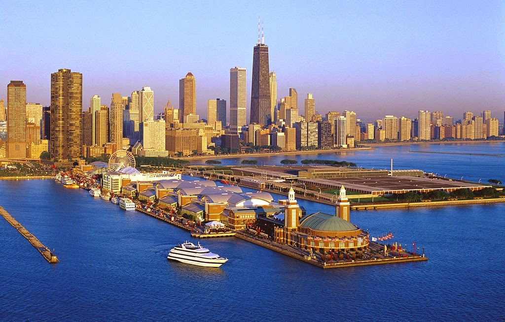 Navy Pier em Chicago nos Estados Unidos
