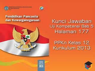 Kunci Jawaban Uji Kompetensi Bab 5 PKN Kelas 12 Halaman 177 Kurikulum 2013 Ilmu Hexa