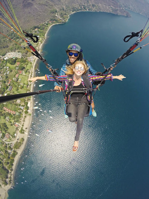 paragliding Lake Atitlan Panajachel Guatemala Alyssa Hiptipico