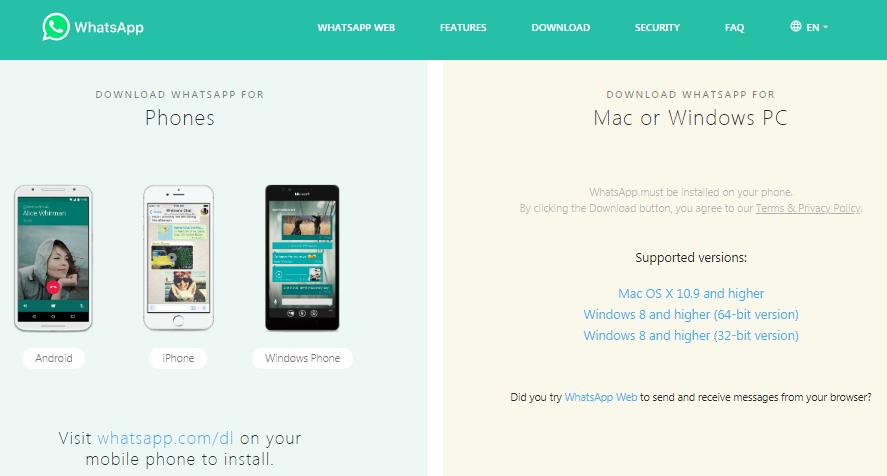 aplikasi whatsapp web pada iphone