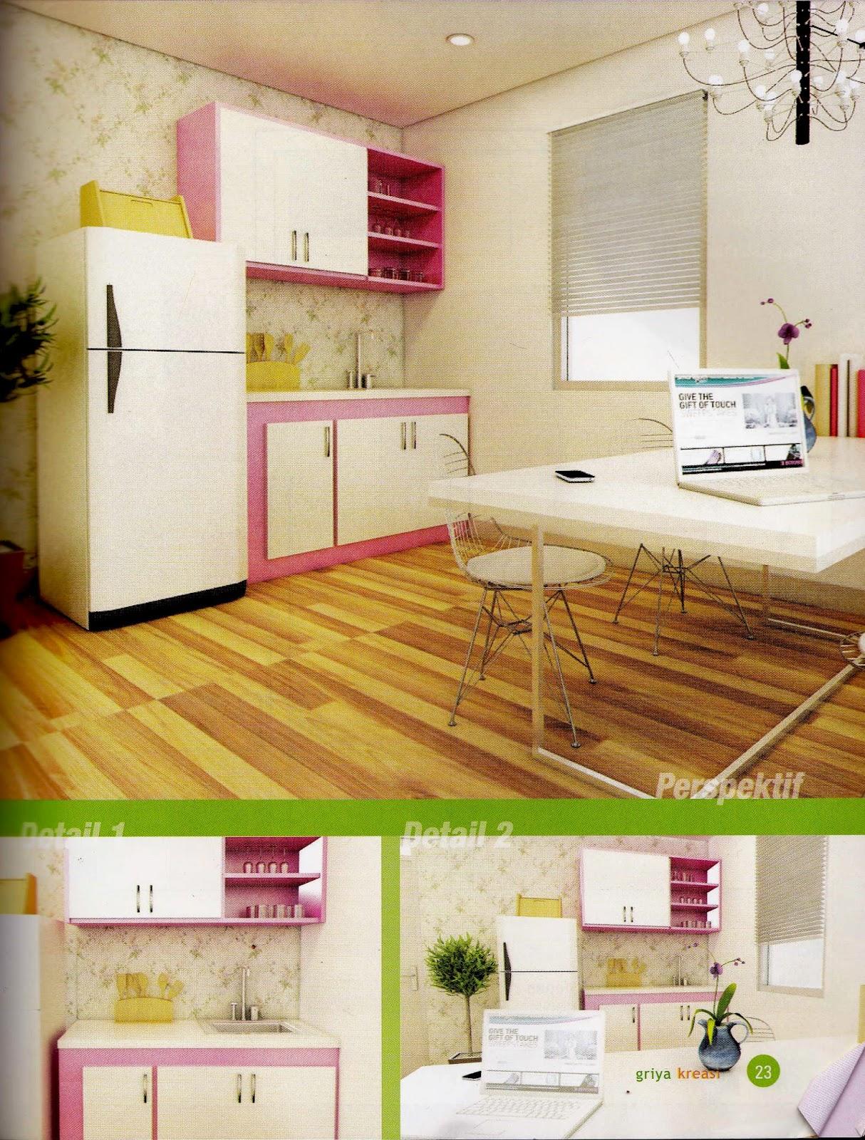 Princess New Pink Desain Kitchen Set Minimalis 4 2 Juta Untuk Dapur