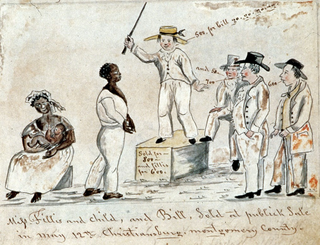 modern american slave auction
