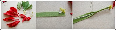 Keçe Kumaştan Çiçek Yapımı, Resimli Açıklamalı 1