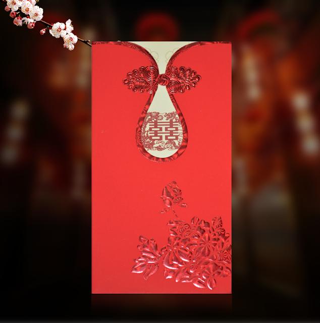 婚礼邀请卡, wedding invitation card, printing, kuala lumpur, cetak, chinese oriental, double happiness, cheong sam, chinese button, die cut, peony, peonies, red pocket, elegant, singapore, johor bahru, penang, pulau pinang, envelope, melaka, seremban, ipoh, perak, pahang