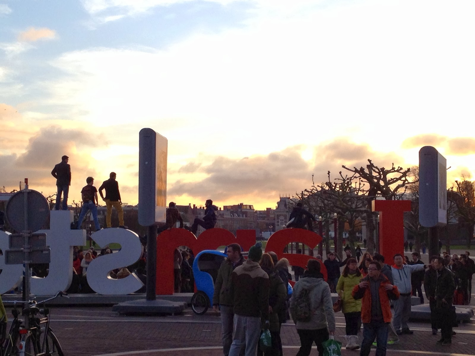 Amsterdam -  People love climbing on the I amsterdam letters