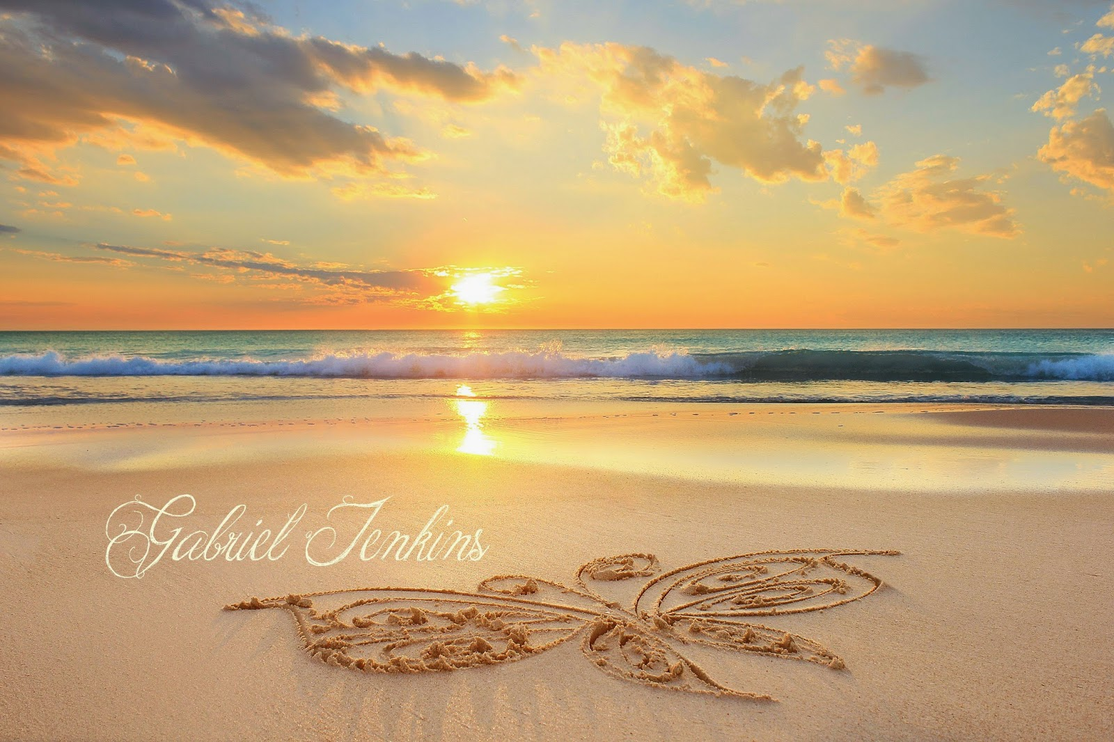 The Seashore Of Remembrance Sunset Butterflies