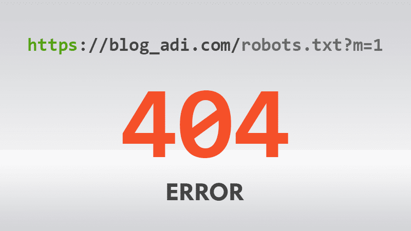 Robots.txt 404 Hata Kodu