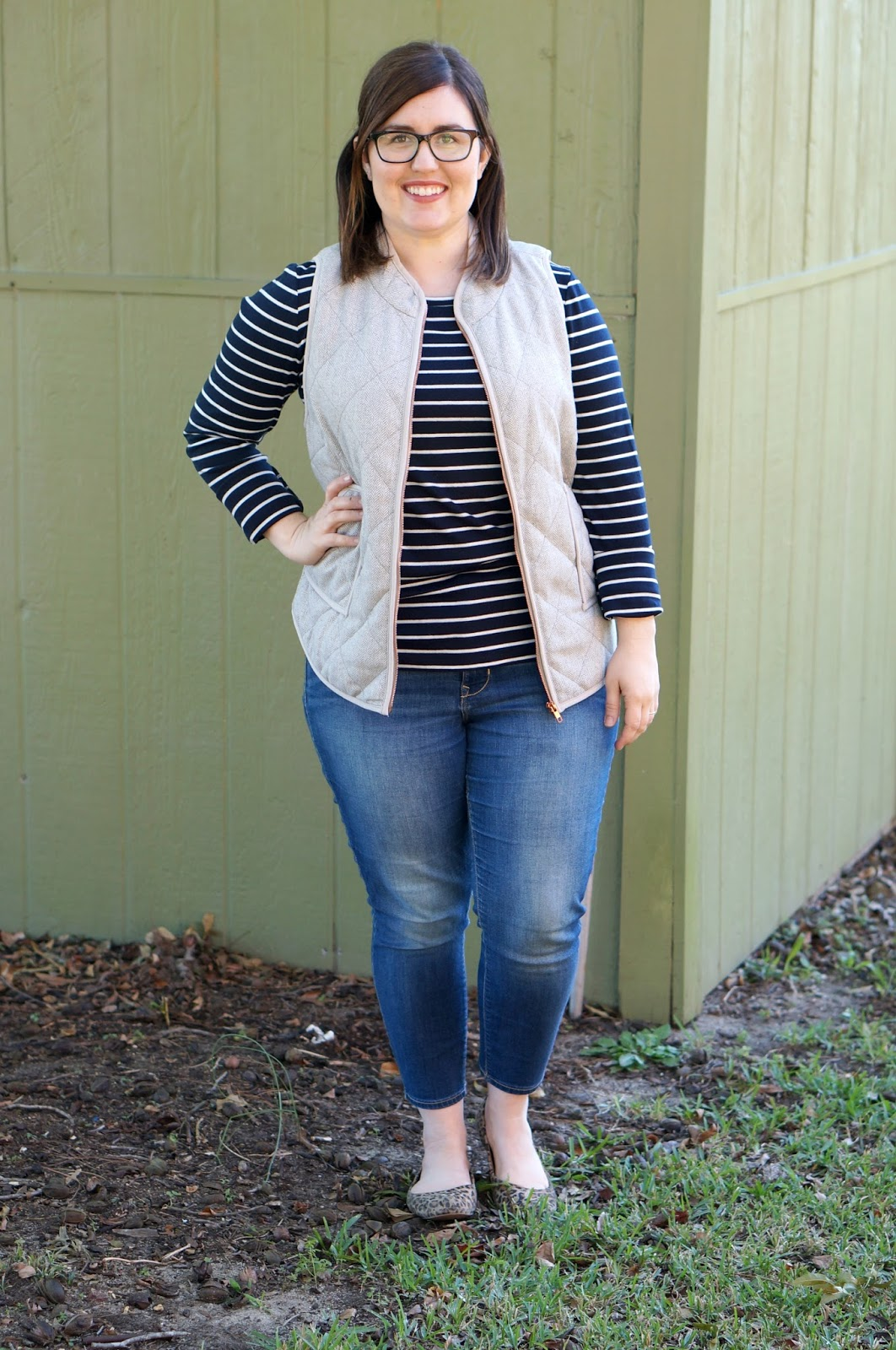 Rebecca Lately Stitch Fix 41Hawthorn Shara Herringbone Vest