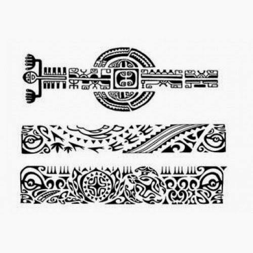 Maori Band Tattoo Stencil