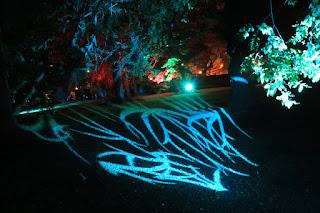 Espectáculo de luz y sonido en la Finca Munoa