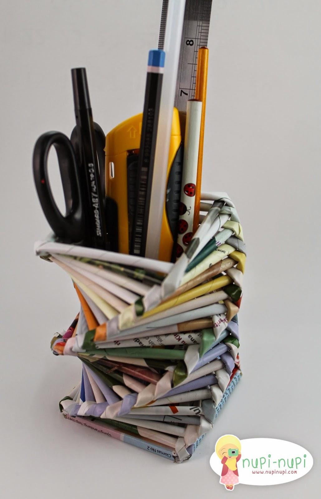 Cara Membuat Kerajinan Tangan Koran 2010 : membuat, kerajinan, tangan, koran, Membuat, Kerajinan, Tangan, Koran, Bekas, Tempat, Pensil