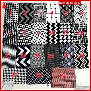 RYB095B Segiempat Monochrome Cantik Katun Murah Rayon BMG Online Shop
