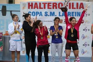 HALTEROFILIA - La Escuela Tinerfeña se queda en propiedad con una Copa de la Reina