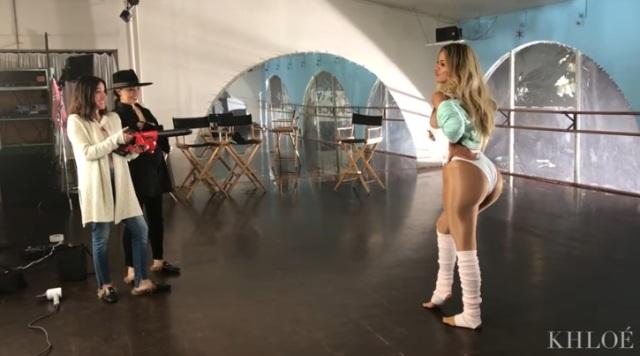 Khloé Kardashian lució cuerpazo para una sesión fotográfica