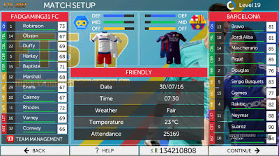 First Touch Soccer 2016-2017 Mod Apk Data OBB Android