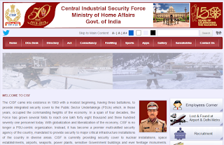 image showing cisf official website