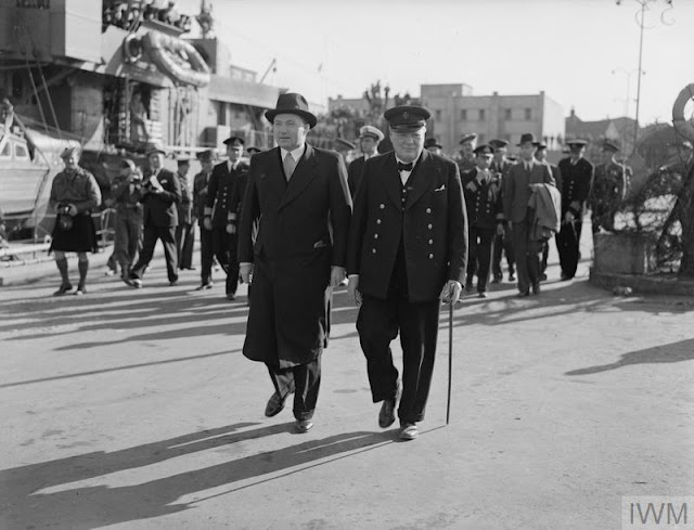 Prime Minister Winston Churchill meets with the Prime Minister of Iceland, Hermann Jonasson, 15 August 1941 worldwartwo.filminspector.com