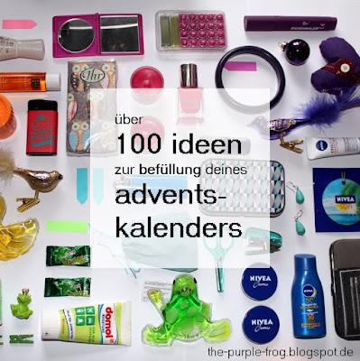 the purple frog ber 100 ideen f r die bef llung deines selbstgemachten adventskalenders. Black Bedroom Furniture Sets. Home Design Ideas
