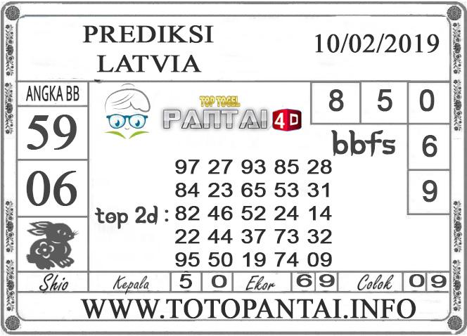 """Prediksi Togel """"LATVIA"""" PANTAI4D 10 FEBRUARI 2019"""