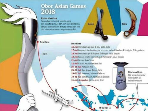 Jadwal pawai obor Asian Games 2018 di Bandung