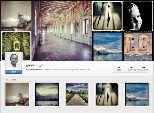 La pagina del profilo Instagram di Giovanni_B sul web