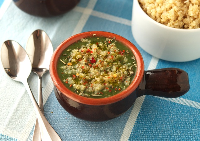 Green Soup With Quinoa