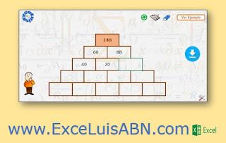 Pirámide de sumas y restas.
