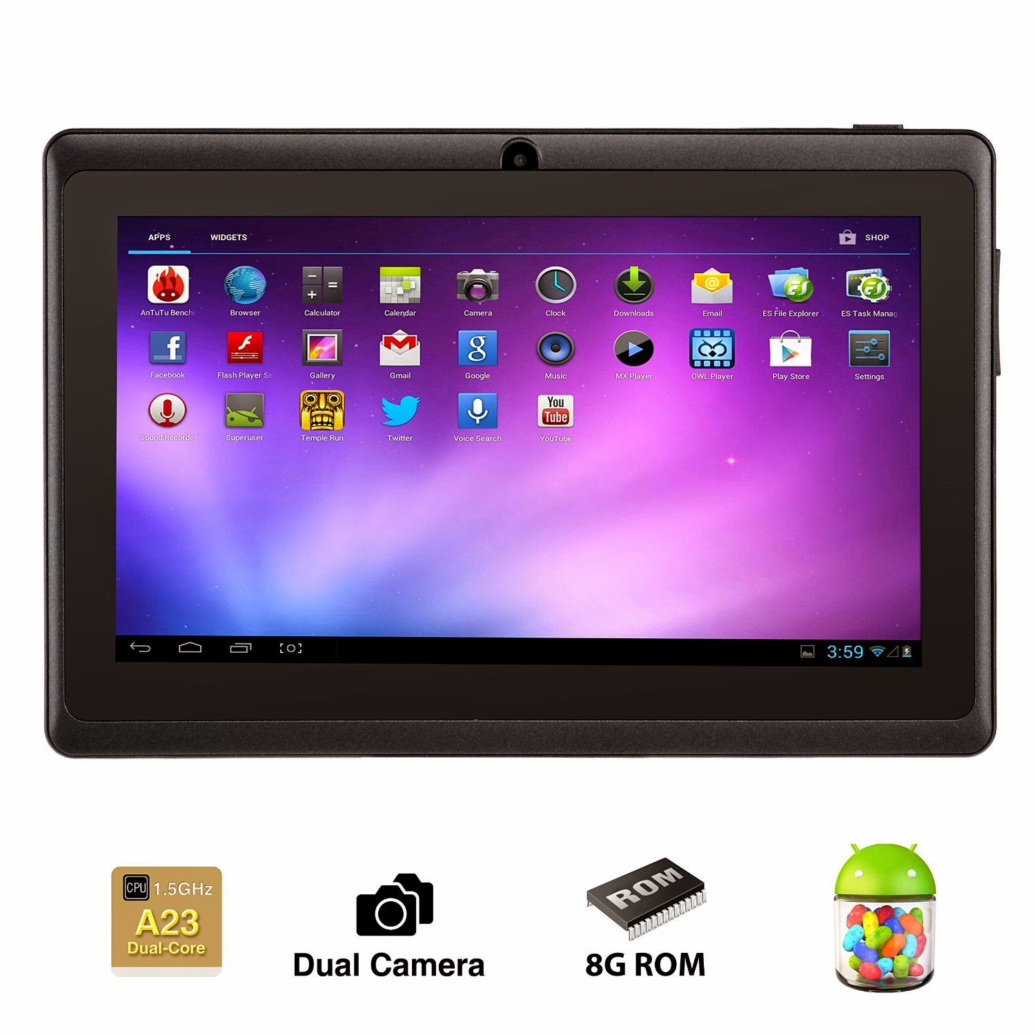 Alldaymall® 7 Inch Android 4.4 KitKat Tablet PC review