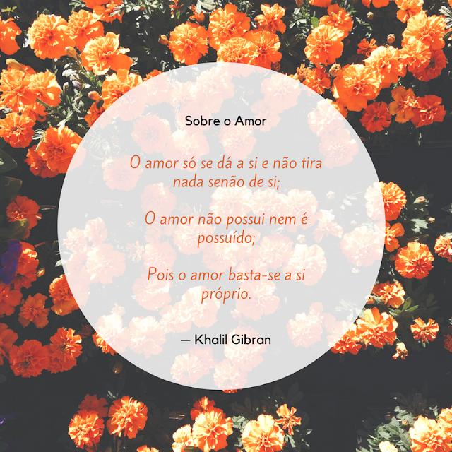 Sobre O Amor de khalil Gibran em O Profeta, dica de leitura, poemas, poesias